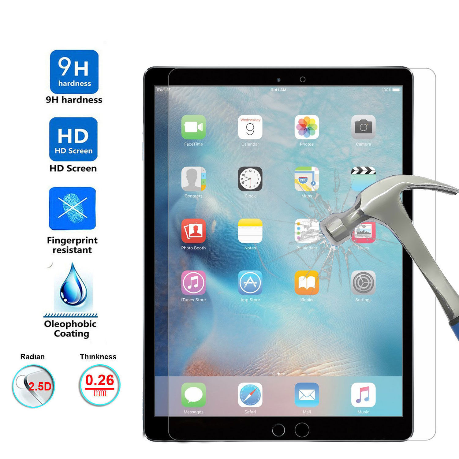 Tempered Glass For New IPad 9.7 2017 2018 A1822 A1893 A1954 Screen Protector For IPad 10.2 2019 Tempered Glass For IPad Pro 10.5