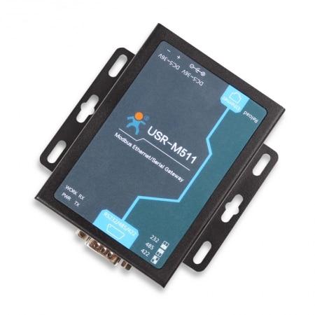 USR-M511 Modbus Gateway Serial to Ethernet Modbus Converter Supports RTU to TCP/ASCII Q22863 usr n510 modbus gateway ethernet converters rs232 rs485 rs422 to ethernet rj45 with ce fcc rohs certificate