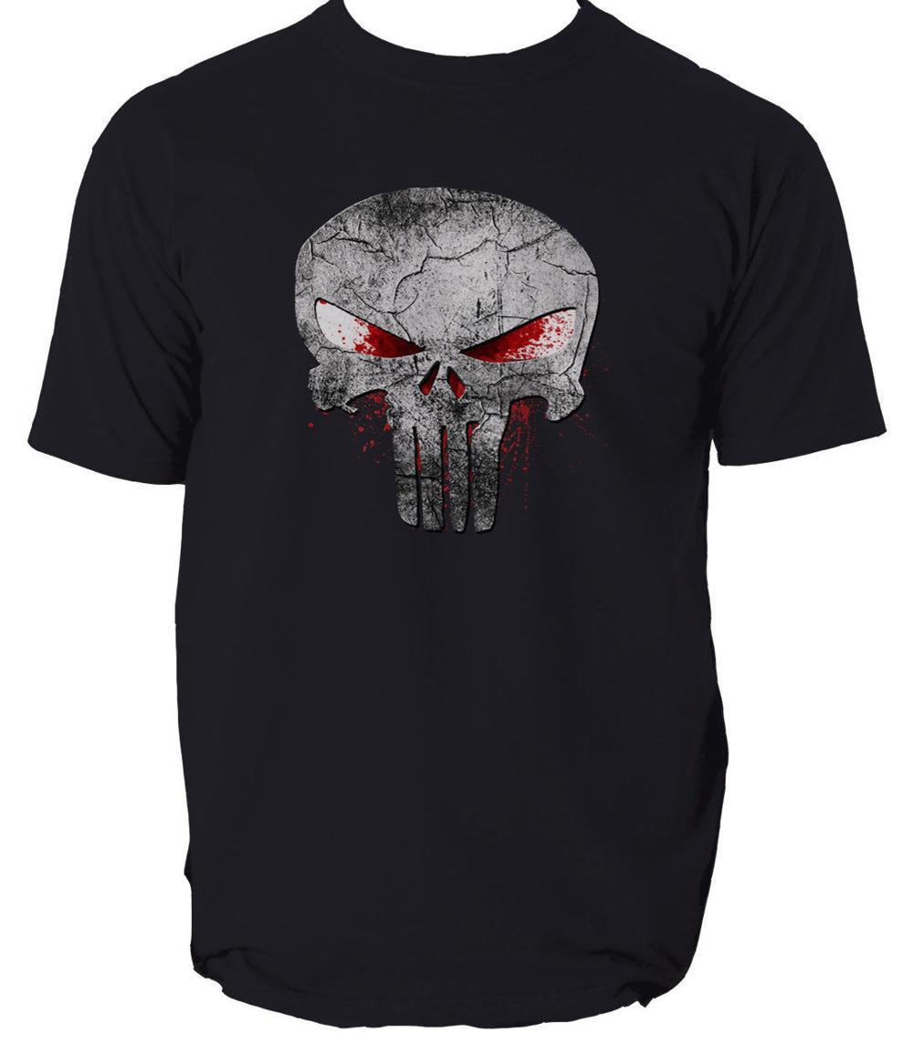 The Punisher Skull Logo T-Shirt Frank Castle Skull Marvel Agent Splatter