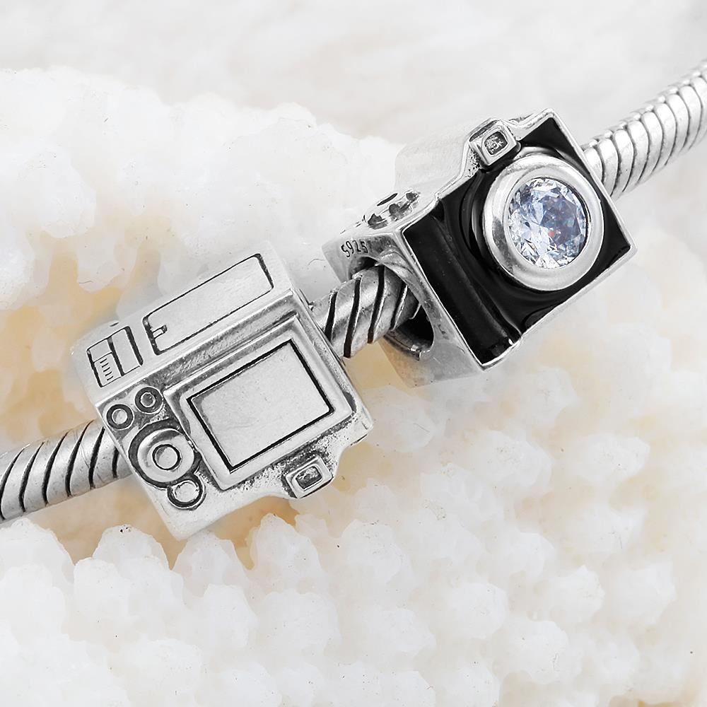 3020db538 Travel 925 Sterling Silver Beads Authentic Jewelry Fit Pandora Charms  Bracelets Sentimental Snapshots Charm 791709CZ-in Beads from Jewelry &  Accessories on ...
