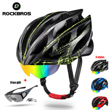 ROCKBROS Cycling Helmet 3 Lens Ultralight MTB Bicycle Bike Motorbike Helmet Integrally-molded EPS Ciclismo Goggles Accessories