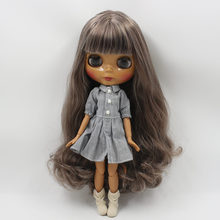 Factory Neo Blythe Doll Brown White Hair Jointed Body 30cm