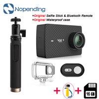 В наличии! Оригинальный xiaoyi Yi 4k + спортивная Экшн камера 4k + plus 2,19 Ambarella H2 для IMX377 12MP 155 4 К Ultra HD спортивные Камера