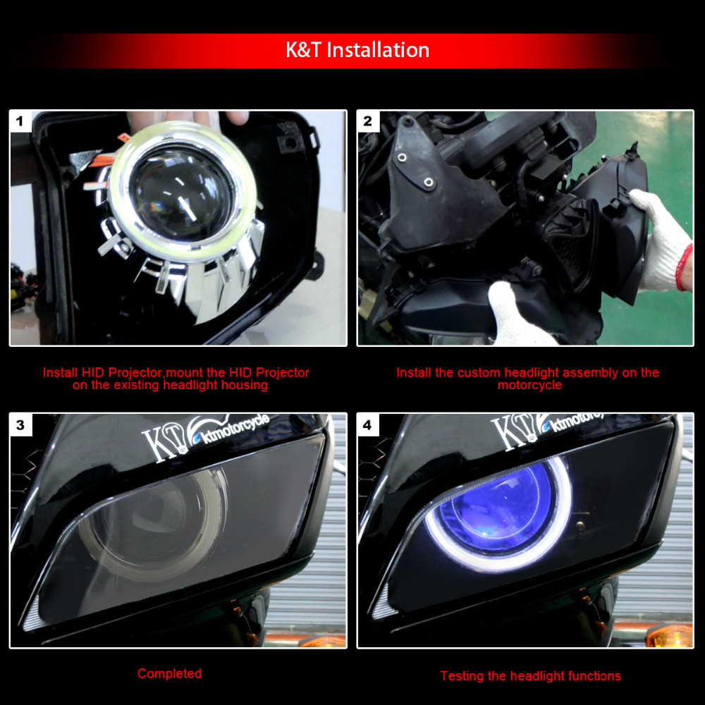 Kt Headlight Suitable For Kawasaki Zx 6r Zx6r 2007 2008 Led Angel Wiring Harness Eyes Blue Demon Motorcycle Hid Bi Xenon Projector Lenses On Alibaba