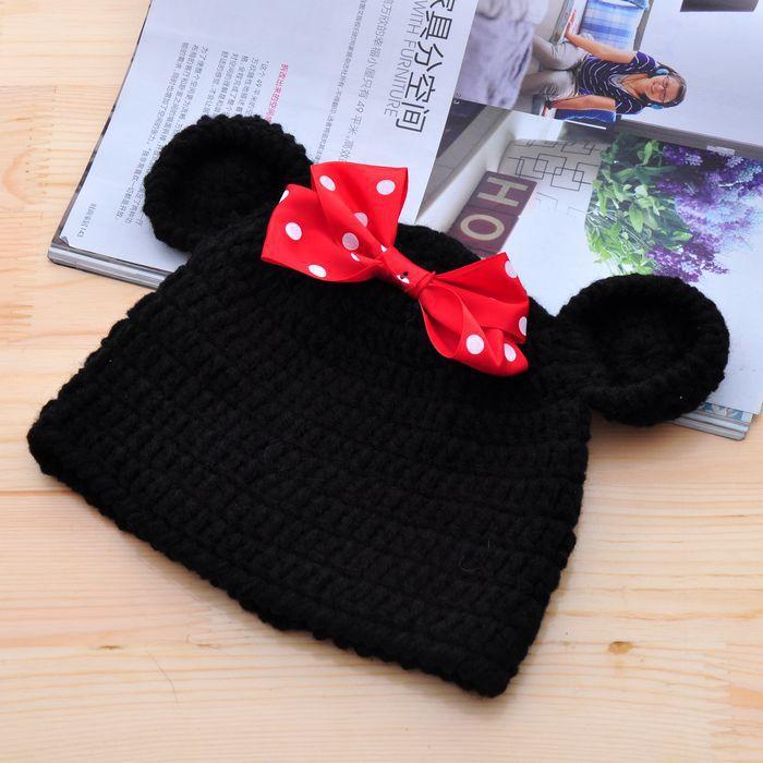 Envío libre lindo mickey Minnie mouse sombrero del bebé y pantalones ...