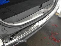 Für Mitsubishi Pajero sport 2013 2016 Hinten stoßdämpfer schutz Stamm Tür Sill Platte Trimmt Streifen Edelstahl Auto Zubehör|Chrom-Styling|Kraftfahrzeuge und Motorräder -