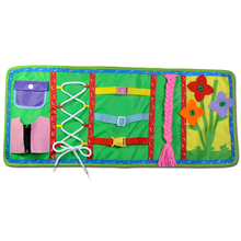 Montessori Cloth Book Early Educational Toys For Baby Preschool Child Dressing/Zipper/Buckle/Button Life Skills Teaching Train