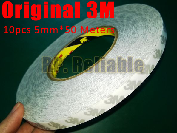 Wholesale! 10x 5mm*50M 3M 9080 Translucent Double Sides Adhesive Tape for Electronic Nameplate Phone Screen Glass LED Strip Bond wholesale 5x 5mm 50m 3m 9080 double sides sticky tape for led strip phone lcd touch display screen panel adhesive free ship