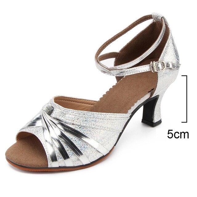 Zapatos de tacón alto para mujer, zapatos de tacón bajo dorados y plateados para bailar, zapatos de fiesta de boda para mujer, sandalias para mujer