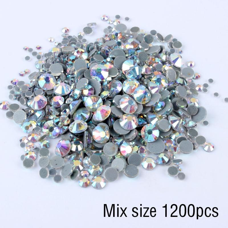 Verre-Nuggets briques de verre multicolores muggelsteine Box 60 pièces 5 cm environ ø1