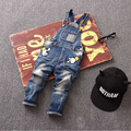 3-86T kid jeans children jeans boys pants denim trousers Korean children jeans overalls bib pants CKJ019