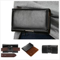 New Universal Belt Clip Leather Case For Ulefone U007 Cover Cell Phone Accessorio