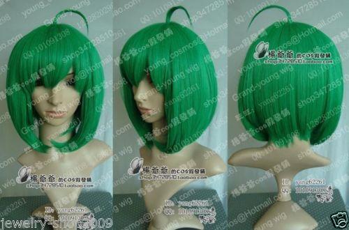 Sensible New Wig Cosplay Macross Ranka Green Short Straight Wig