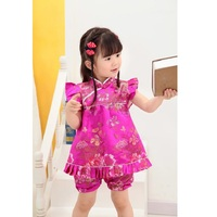 2014 Floral Qipao Children S Sets New Year Chinese Dresses Short Pants Cheongsam