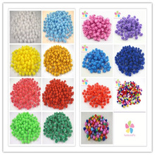 144pcs/288pcs approx 10-12mm Chenille Stems Bendaroos Christmas Plush Ball Hair Root Diy Children Toys Wholesale 22010001