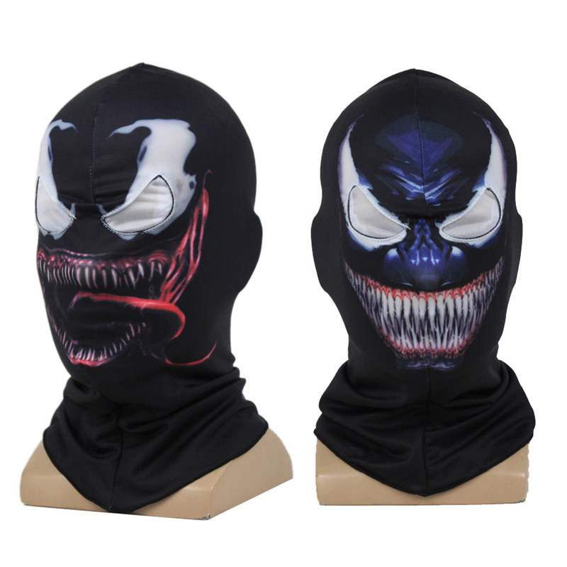 Venin Spiderman Masque Cosplay Noir SpiderMan Edward Brock Foncé  Super-Héros Venin Masque Balaclava Capuche 19cf13f14f89