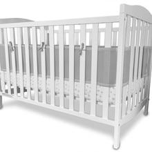 Серый сетчатый дышащий бампер для кроватки для полноразмерной кровати для новорожденных гипоаллергенная защита здоровья ребенка конечностей между планками