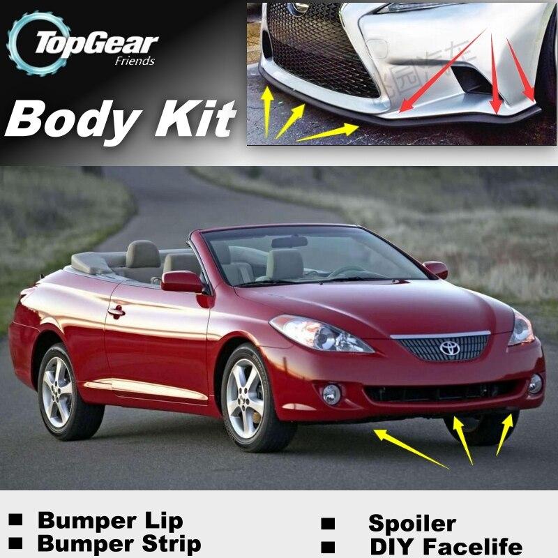 toyota solara tuning - For TOYOTA Camry Solara Mark V Bumper Lip / TOP Gear Fans Spoiler Deflector For Car View Tuning / TOPGEAR Body Kit / Strip Skirt