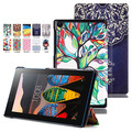 "Painting Slim Folio Tri-Fold Stand Leather Case Hard Cover For Lenovo Tab 3 7 Essential TB3-710F TB3-710I 7"" inch Tablet PC"