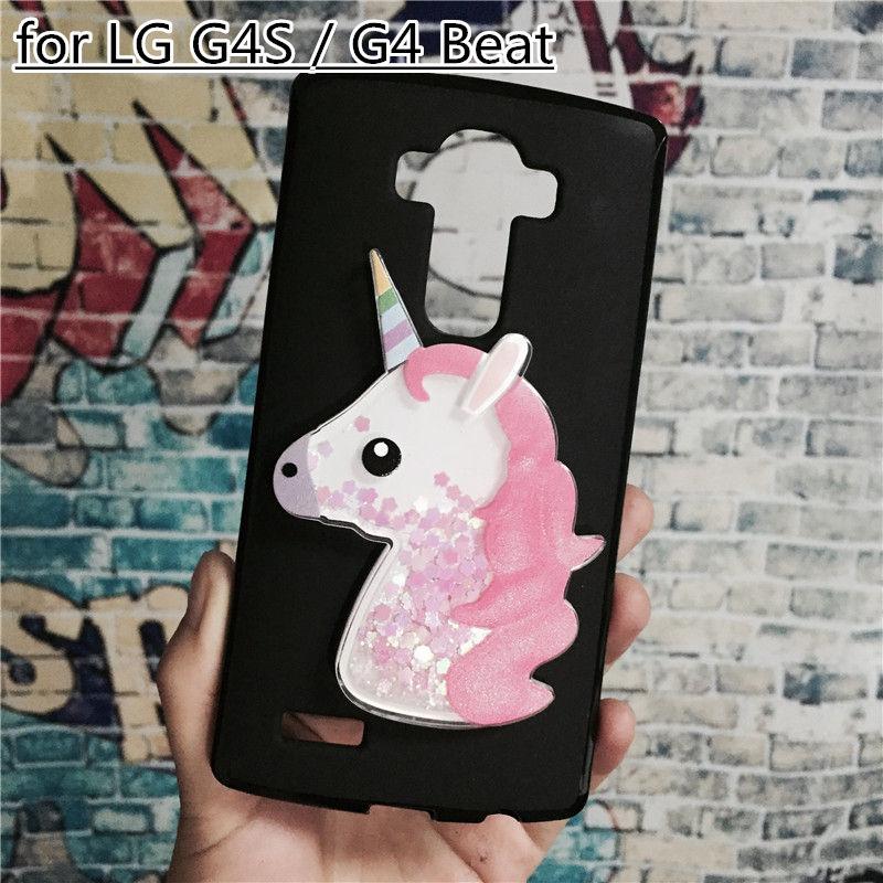 Unicorn Glitter Liquid Case for LG G4S   G4 Beat Cover Dynamic Cute Cartoon  OWL Dreamcatcher Soft TPU Funda-in Rhinestone Cases from Cellphones ... ecafa4b78e89