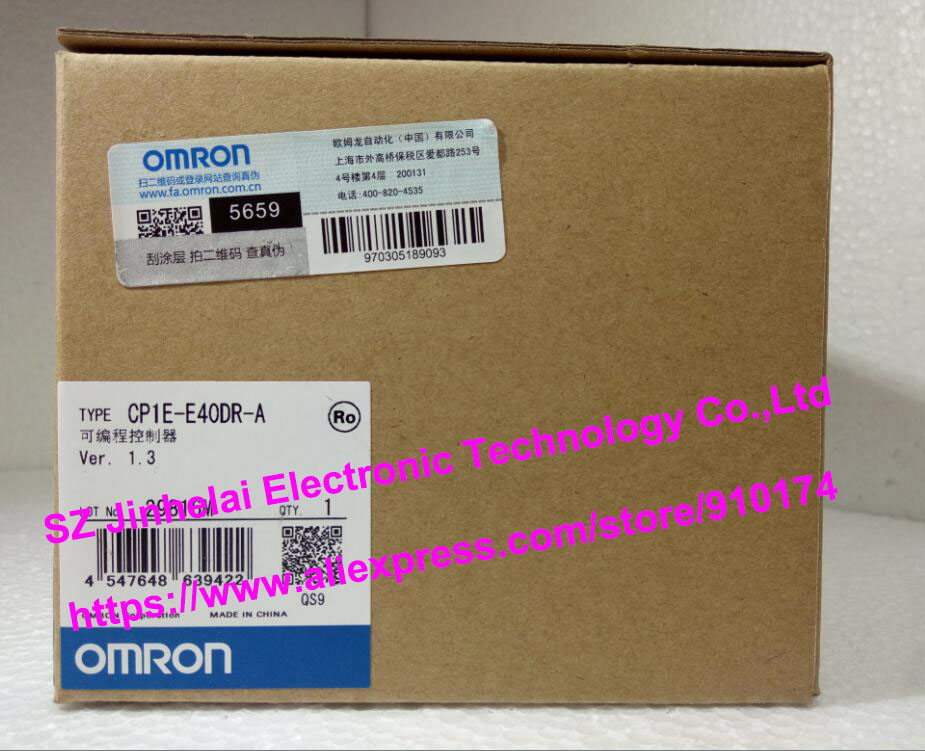 New and original CP1E-E40DR-A OMRON Programmable controller 100% new and original cp1e e10dr d cp1e e10dt a cp1e e10dt d omron programmable controller