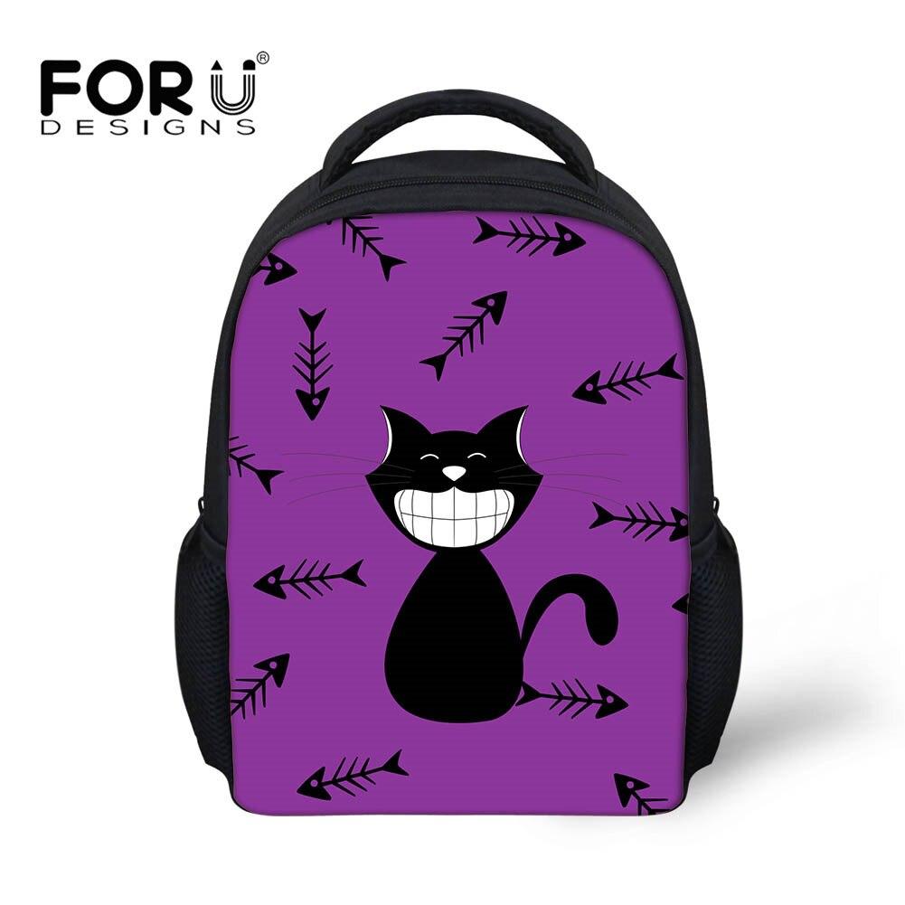 4855c5f0d3 FORUDESIGNS 3D Cartoon Cat 12 Inch Baby Mini Toddler Backpack Tumblr Bag  Kids Kindergarten School Bags Boys Girls Bag Best Gift