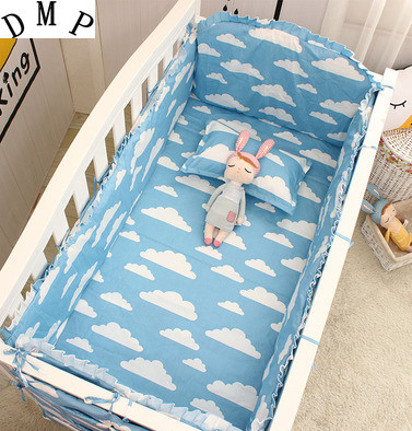 Promotion! 6PCS Baby Bedding Set Crib Sets cot bumper+fitted Bed Baby Cot Bedding Sets , ,include(bumpers+sheet+pillow cover) стоимость
