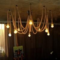 Vintage Touw Hanglampen Lamp Loft Creatieve Persoonlijkheid Industriële Lamp Edison Lamp Amerikaanse Stijl Voor Woonkamer Decoratie