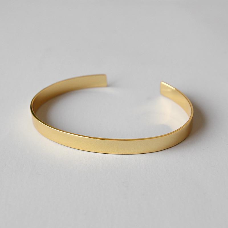 925 en argent sterling bracelets pour femme pulseras mujer, simple couleur or bracelet pulseira feminina bijoux en argent 925 bijoux