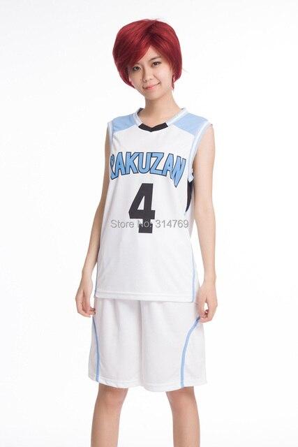 Fashion Cartoon Anime Kuroko no Basuke RAKUZAN School Jersey uniforms  clothes Akashi Seijuro cosplay costumes 3db19e6f9876d