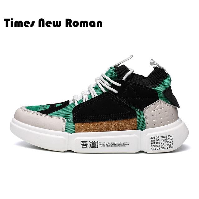 Times New Roman дышащая легкая эластичная ткань Повседневное Мужская обувь для взрослых кроссовки для мужчин лоскутное прогулки конструктор Человек обувь