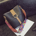 Fashion Women Bag Striped Shoulder Strap Belt Decraction Handbag Candy Color Autumn and Winter New Bag Lady's Crossbody Bag
