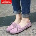Gran Tamaño Mujeres Pisos Mocasines Mujer Primavera Otoño de Color Caramelo Zapatos Planos de Las Mujeres Zapatos de Mujer Más El Tamaño 35-41 CC-014
