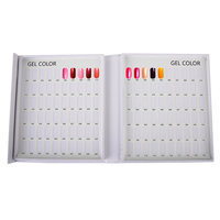 Gratis schip, TTYUP 120 Kleuren Nail Gel Polish Display card Nail Tip Kleurenkaart Wit Display Boek Voor UV/LED Gel Polish Ontwerp