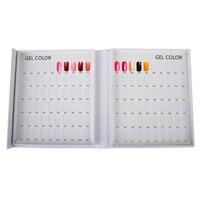 free ship, TTYUP 120Colors Nail Gel Polish Display card Nail Tip Colour Chart White Display Book For UV/LED Gel Polish Design