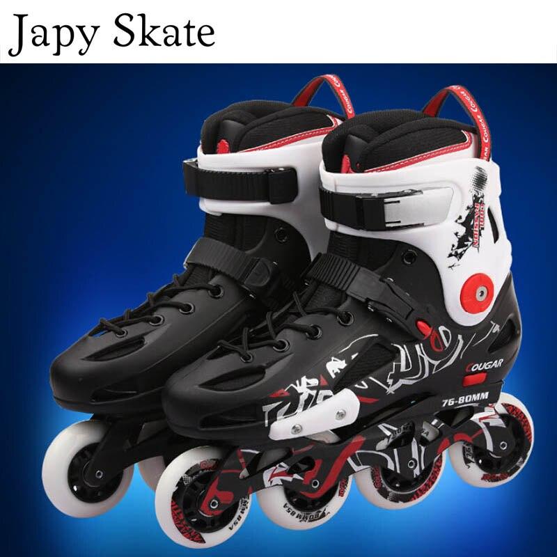 Japy Skate Original Cougar MZS307 Slalom Inline Skates Roller Skating Shoes Slalom Sliding Free Skating Shoes