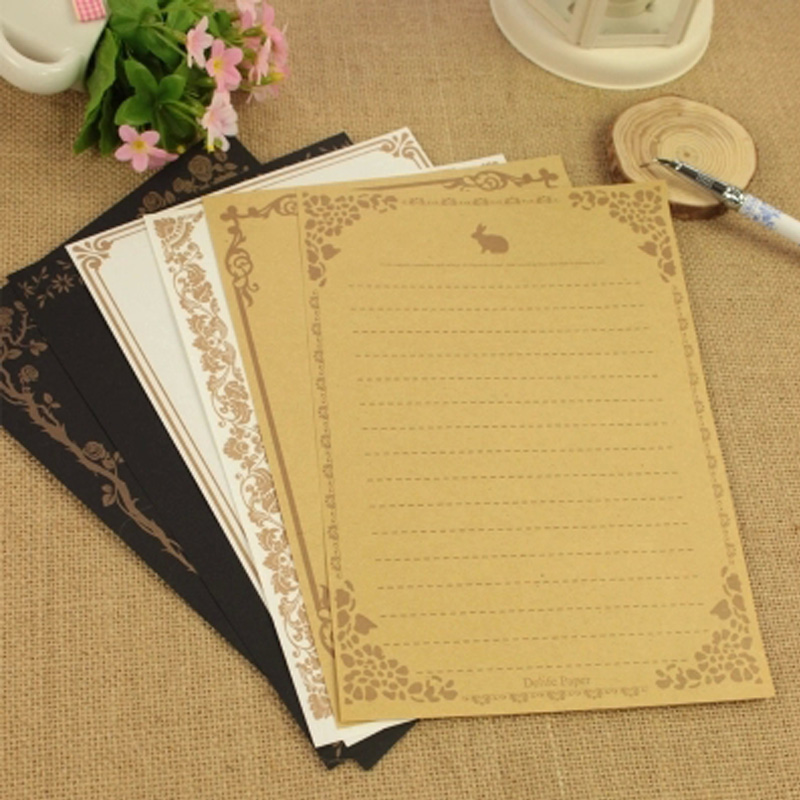 8 Sheets/Set European Vintage Style Writing Stationery Paper Letter Good Quality Culture Stationery Office&School Supplies