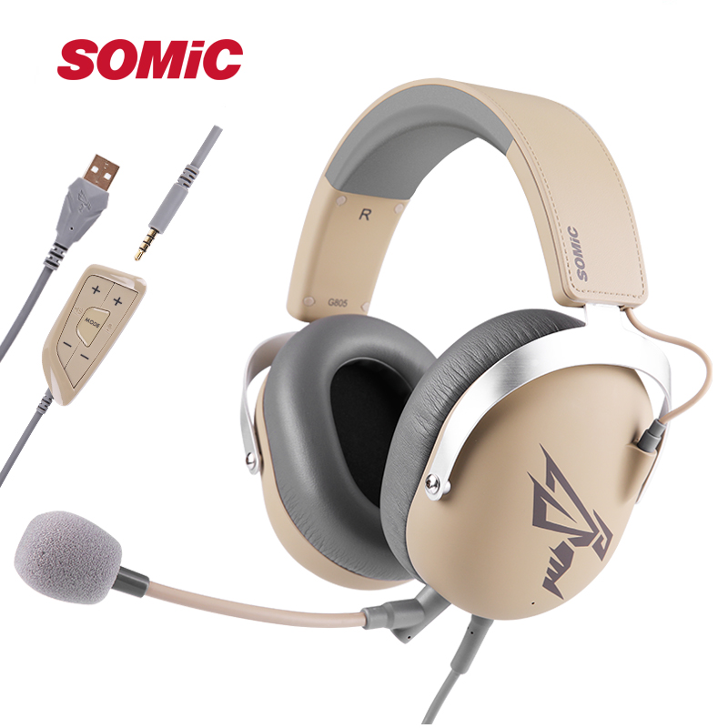 SOMIC G805 PS4 Gaming Headset 7 1 Virtual 3 5mm USB Wired Stereo Headphones with Microphone