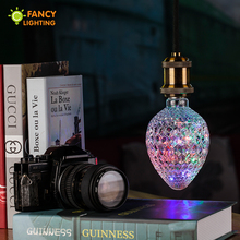 Led bulb Strawberry/Bottle/A60 rgb LED Light Bulbs e27 3w Firework led lamp 110v/220v string lights for home Decoration lampe