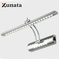 Wing Lei Led Mirror Light Modern Minimalist Stainless Steel Bathroom Cabinet Bathroom Wall Lamp Light Makeup