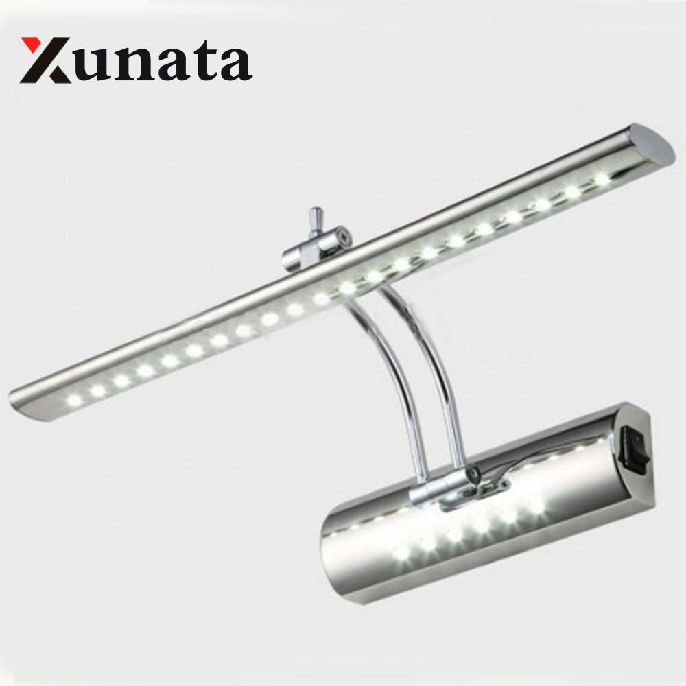 Зеркало LED на передней свет 7 Вт 5 Вт SMD 5050 3014 Для ванной комнаты современный pouplar Для ванной настенный светильник Нержавеющаясталь белый /теплый белый