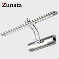 Wing Lei Led Mirror Light Modern Minimalist Stainless Steel Bathroom Cabinet Bathroom Wall Lamp Light Makeup