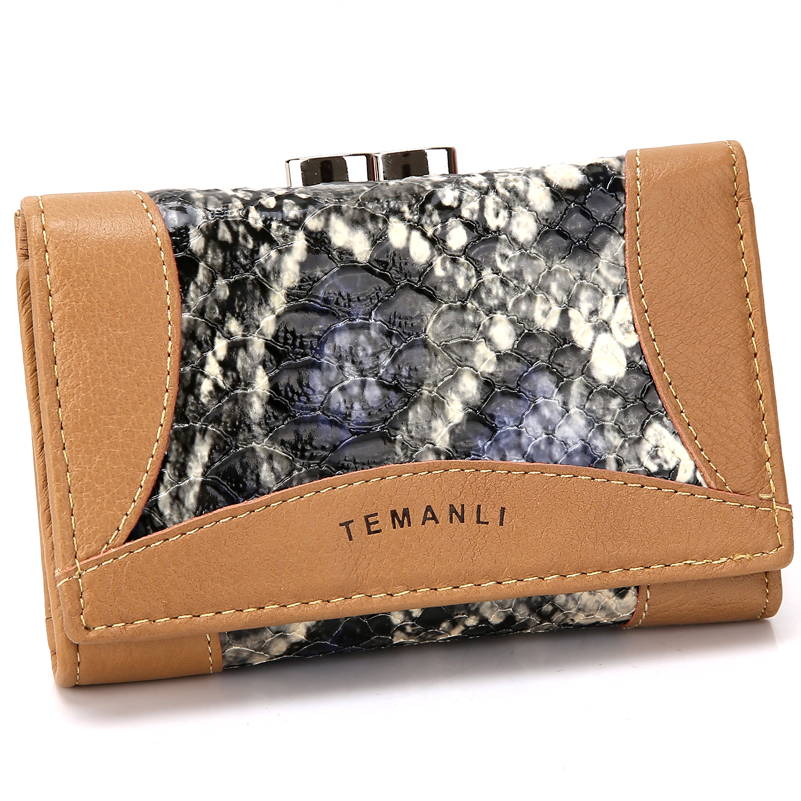 ФОТО Genuine Leather Wallet Designer Wallets Famous Brand Women Wallet 2015 Purses Fashion Long Wallet