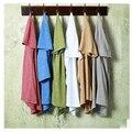 Marca Camiseta Para Hombres de Cuello Redondo Camisa De Bambú de Algodón Marca de Ropa Del Color Del Caramelo Camisetas Divertidas de Los Hombres's T-shirt moda 2017 corto