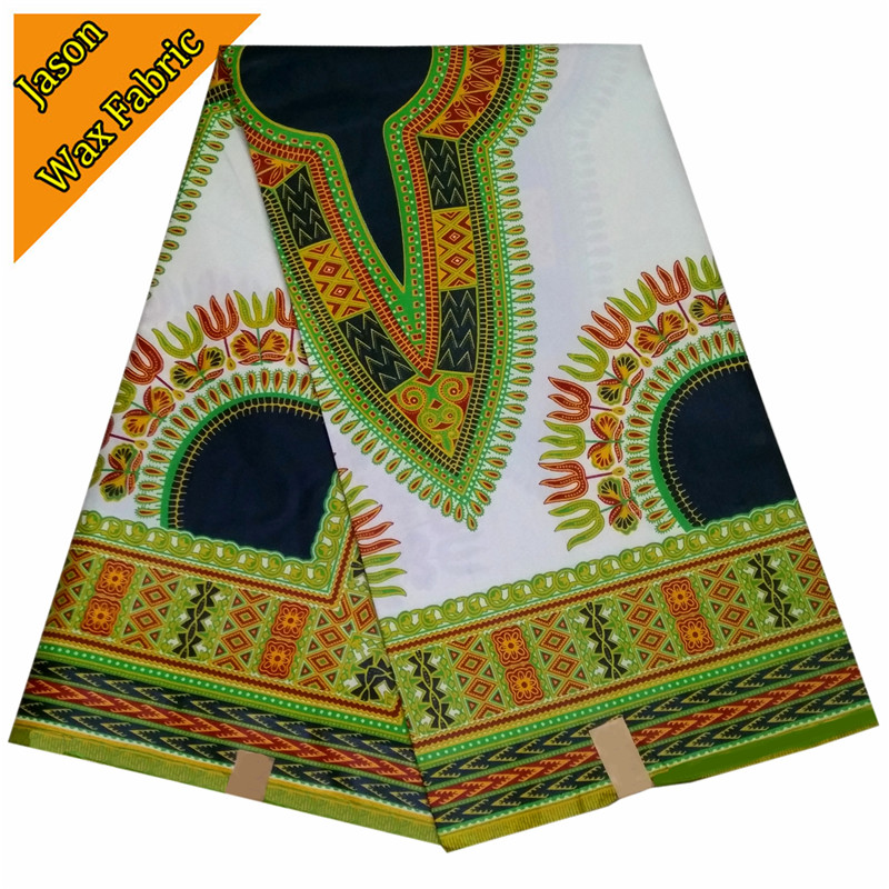veritable real wax cloth 100% Polyester African super wax prints green & white color fabric 6yards/lot for dress LBL