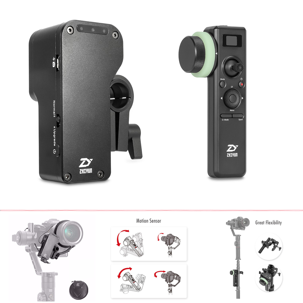 Zhiyun Grue 2 Servo Follow Focus, pour tous les Appareils Photo REFLEX, Grue 2 2.4 GHz Sans Fil Cardan Contrôleur avec Motion Sensor Follow Focus