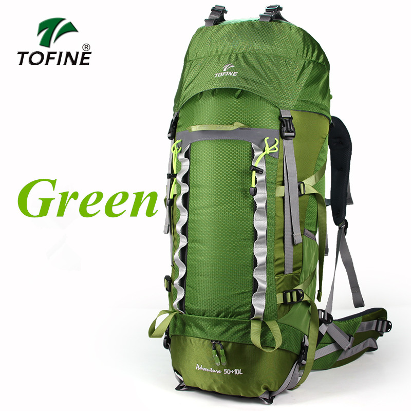TOFINE 60L Professional Climb Backpack Trekking Rucksack Outdoor Travel Camp Equip Hiking Gear Mountaineering Bag hunting