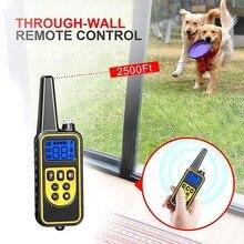 חדש חשמלי כלב הלם צווארון עם מרחוק עמיד למים מכשיר עבור חיות מחמד גדולות כלבי אימון