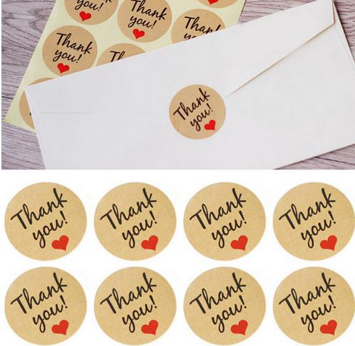 120pcs Thanksgiving Seal Label Sticker Thank You Tag Gift Tag Label Marks party favors Accessories vintage wedding decoration