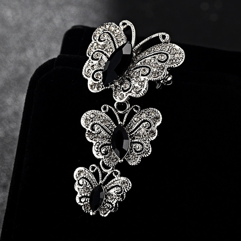 Luxusní značky Hvězdy fialová brož Lesklá značka Rakouské křišťálové brože a špendlíky Doplňky Roztomilý motýl Brož Bijoux Unhas